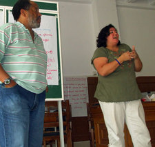 Michael and Linda leading workshop